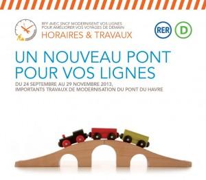 RER D travaux pont du Havre