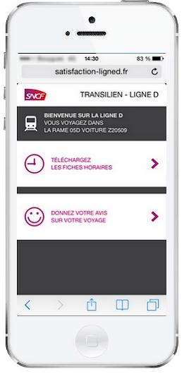 RER D QR code accueil