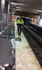 Nettoyage quai Gare du nord