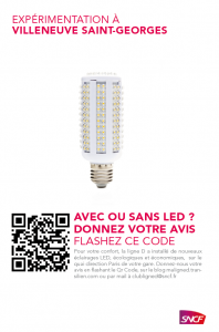 Eclairage Led villeneuve saint georges rer d sncf