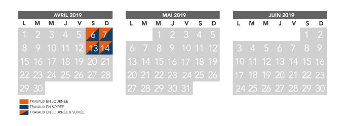 Calendrier Avril Mai Juin 2019.Calendrier Trimestriel Travaux Avril A Juin 2019 Rer D