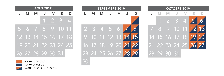 Octobre Calendrier 2019.Rer D Votre Calendrier Trimestriel Travaux D Aout A