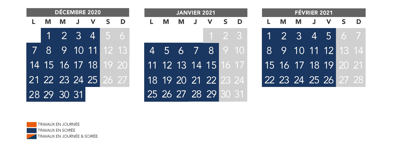 RER D : calendrier trimestriel travaux de décembre 2020 à février 2021