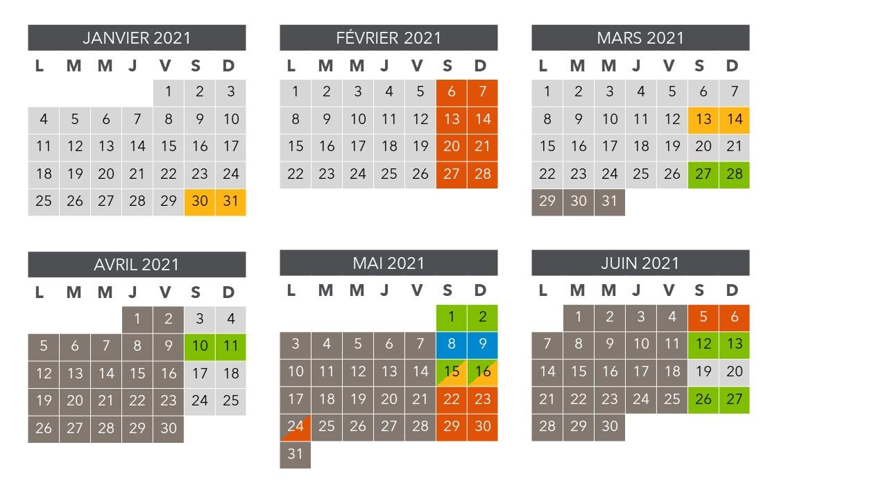 Le calendrier travaux du 1er Semestre RER D